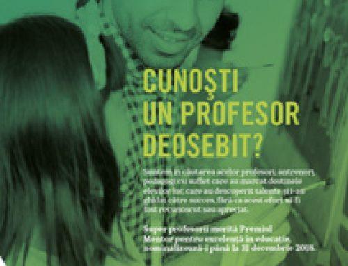 Cunoașteți vreun profesor deosebit?