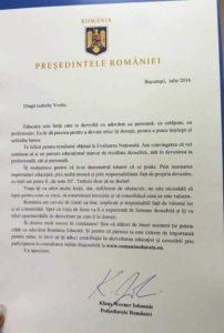 Scrisorile președintelui