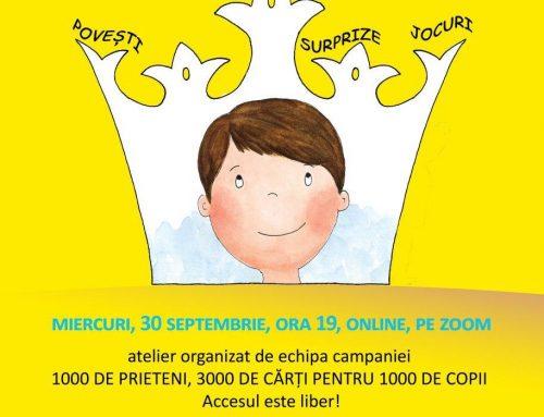 Dragi 1000 de prieteni, pentru 1000 de copii, vă facem și noi un dar!