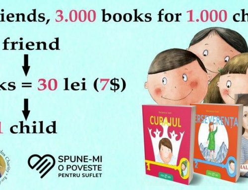 "1000 friends, for 1000 children, a fundraising campaign organized by ""Tell me a story for my heart"""